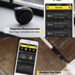 Smartes-Maßband-Bagel-App