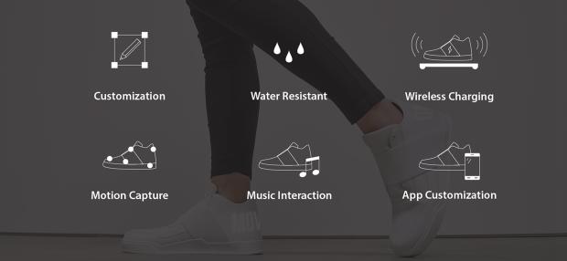 vixole-smarte-schuhe-sneaker-led-matrix-display-features