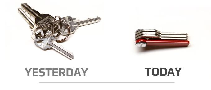 KeyBolt-Schlüsselbund-Taschenmesser